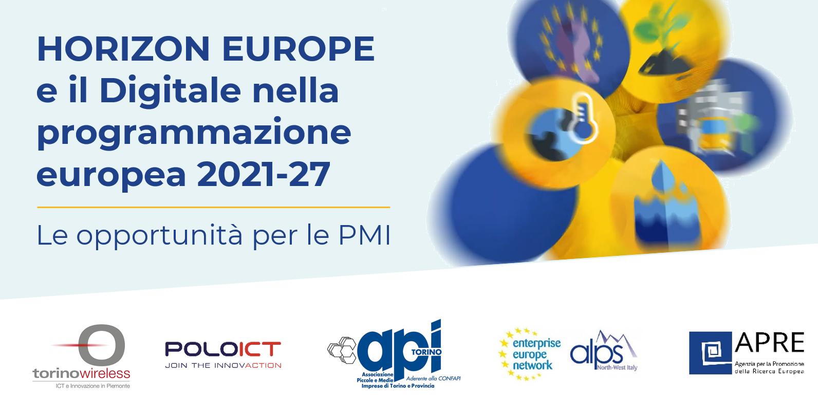 HORIZON EUROPE e il Digitale nella programmazione europea 2021-27