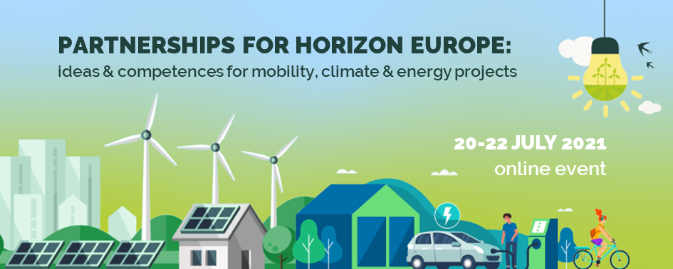 Partnerships for Horizon Europe: ideas & competences for mobility, climate & energy projects