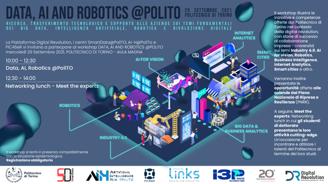 DATA, AI and Robotics @PoliTO